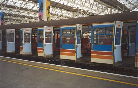 open doors on the Vep unit & SWT Last Run: Waterloo to Bournemouth