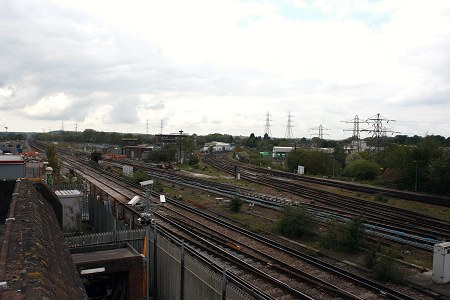 The Brighton Main Line and Mid Sussex Lines diverge, as seen from the signalling centre